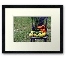 Farmer's Market Goodies Framed Print