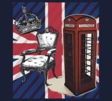 modern jubilee telephone booth london UK fashion Kids Tee