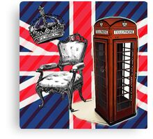 modern jubilee telephone booth london UK fashion Canvas Print