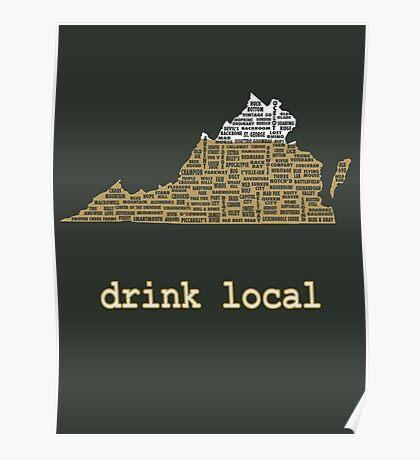 Drink Local - Virginia Beer Shirt Poster