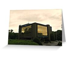 Golden World in the Window Reflections Greeting Card