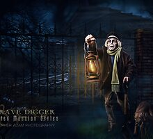 Grave Digger, Haunted Mansion Series by Topher Adam The Dark Noveler by Hugs & Bitchslaps SX Couture