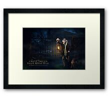 Grave Digger, Haunted Mansion Series by Topher Adam The Dark Noveler Framed Print