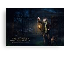 Grave Digger, Haunted Mansion Series by Topher Adam The Dark Noveler Canvas Print
