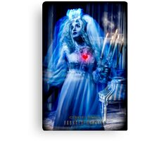 Ghost Bride, Haunted Mansion Series by Topher Adam The Dark Noveler Canvas Print