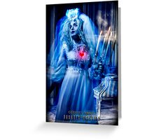 Ghost Bride, Haunted Mansion Series by Topher Adam The Dark Noveler Greeting Card