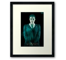Cousin Maude, Haunted Mansion Series by Topher Adam The Dark Noveler Framed Print