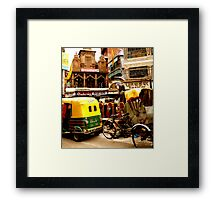 Streets of India Framed Print
