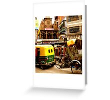 Streets of India Greeting Card