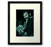 Uncle Jacob, Haunted Mansion Series by Topher Adam The Dark Noveler Framed Print
