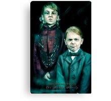 The Twins, Haunted Mansion Series by Topher Adam The Dark Noveler Canvas Print