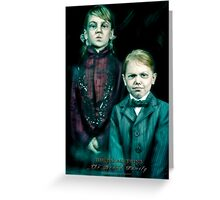 The Twins, Haunted Mansion Series by Topher Adam The Dark Noveler Greeting Card