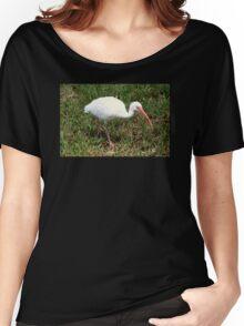 American White Ibis Bird Women's Relaxed Fit T-Shirt