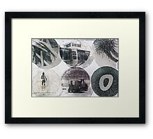 Palm Surf Framed Print
