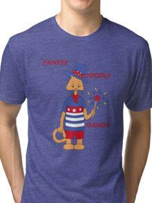Yankee Doodle Kitty Tri-blend T-Shirt