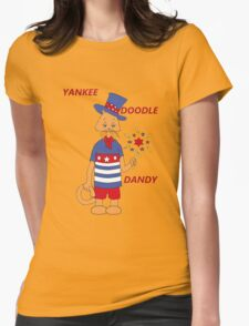 Yankee Doodle Kitty Womens Fitted T-Shirt