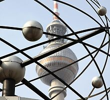 World time clock Berlin TV tower by Falko Follert