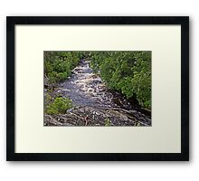 Dove Canyon above the falls Framed Print