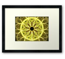 Yellow Rays Framed Print