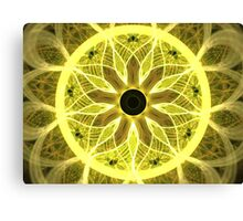 Yellow Rays Canvas Print