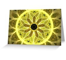 Yellow Rays Greeting Card