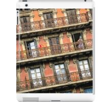 Lady Looking Out, Barcelona, Spain iPad Case/Skin