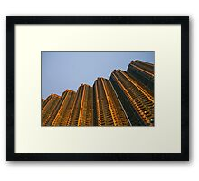 Golden towers Framed Print