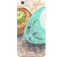 robin's egg with acorn cap iPhone Case/Skin