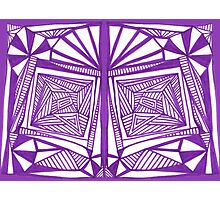 Purple Pattern Proposed 4 Picture Portal Photographic Print