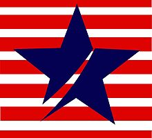 Blue Star Red Stripes by Darlene Lankford Honeycutt