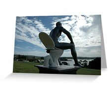 Toilet Man Sculpture,Bermagui,Australia 2015 Greeting Card