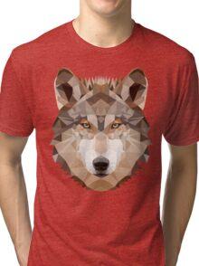 Intense Low Poly Wolf Tri-blend T-Shirt
