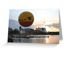 Characters In Flight Balloon Ride In Orlando, Fl Greeting Card