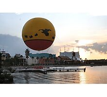 Characters In Flight Balloon Ride In Orlando, Fl Photographic Print