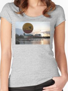 Characters In Flight Balloon Ride In Orlando, Fl Women's Fitted Scoop T-Shirt