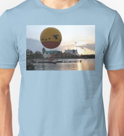 Characters In Flight Balloon Ride In Orlando, Fl Unisex T-Shirt