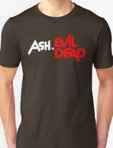 ASH VS EVIL DEAD TITLE WHITE AND RED Unisex T-Shirt