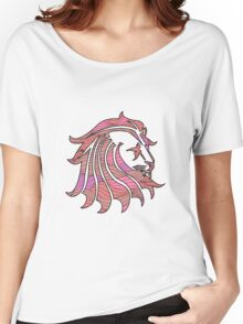 Lion Stripes Red / Orange  Women's Relaxed Fit T-Shirt