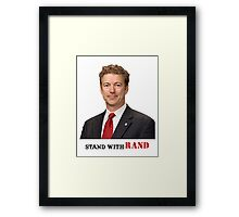 Stand with Rand design Framed Print