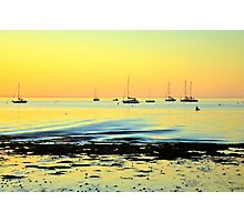 A Golden Glow Photographic Print