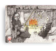 Grim Reaper's Family Life Canvas Print