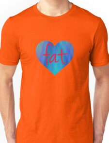 Love Fat (Blue and Red) Unisex T-Shirt