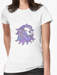 Lion Stripes Pink / Purple  Womens Fitted T-Shirt