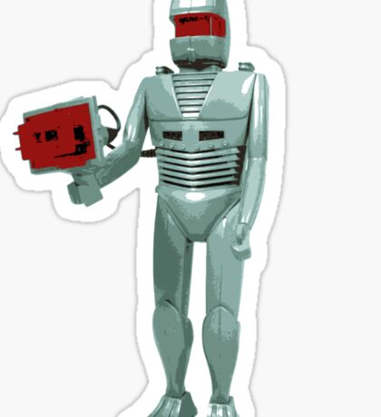 ROM the space knight - retro Action Man (or GI Joe) toy 8-bit style Sticker