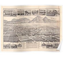 Panoramic Maps Pomona Cal Poster