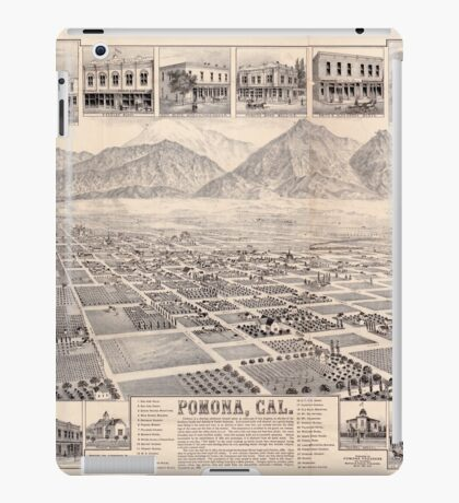 Panoramic Maps Pomona Cal iPad Case/Skin