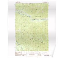 USGS Topo Map Washington State WA Nagrom 242772 1986 24000 Poster