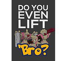 Do You Even Lift Bro - Pokemon - Conkeldurr Family Photographic Print
