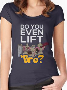 Do You Even Lift Bro - Pokemon - Conkeldurr Family Women's Fitted Scoop T-Shirt