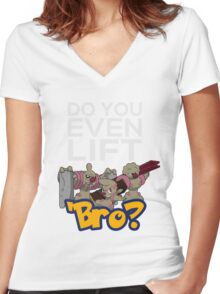 Do You Even Lift Bro - Pokemon - Conkeldurr Family Women's Fitted V-Neck T-Shirt